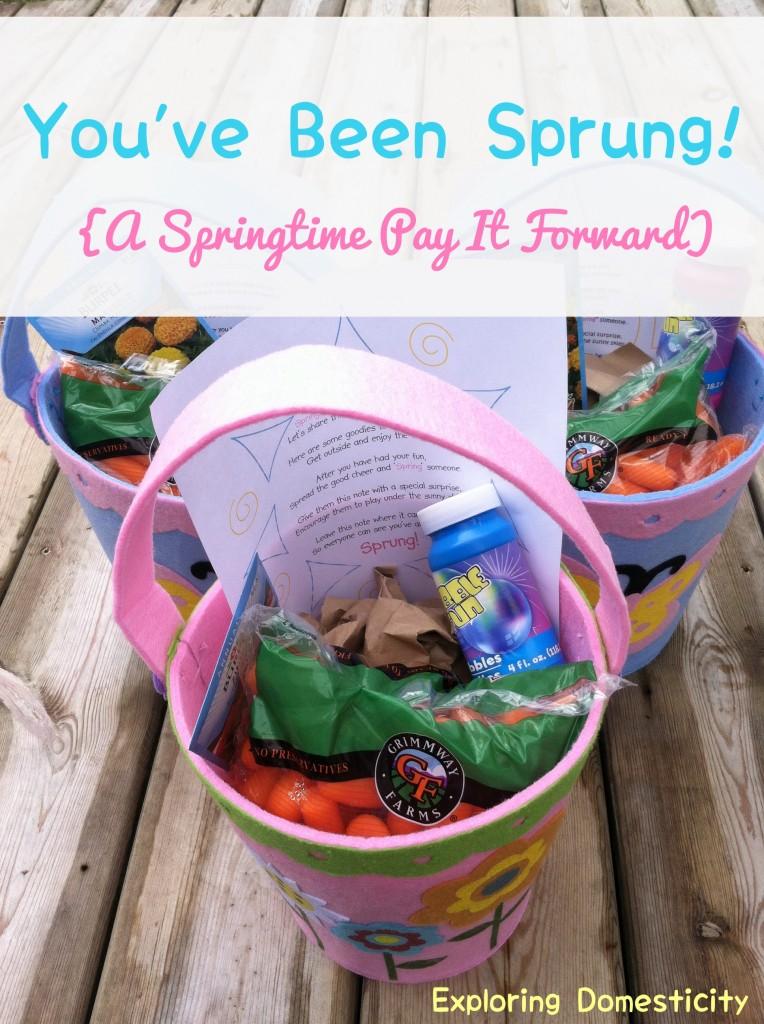 You've Been Sprung: a springtime pay it forward