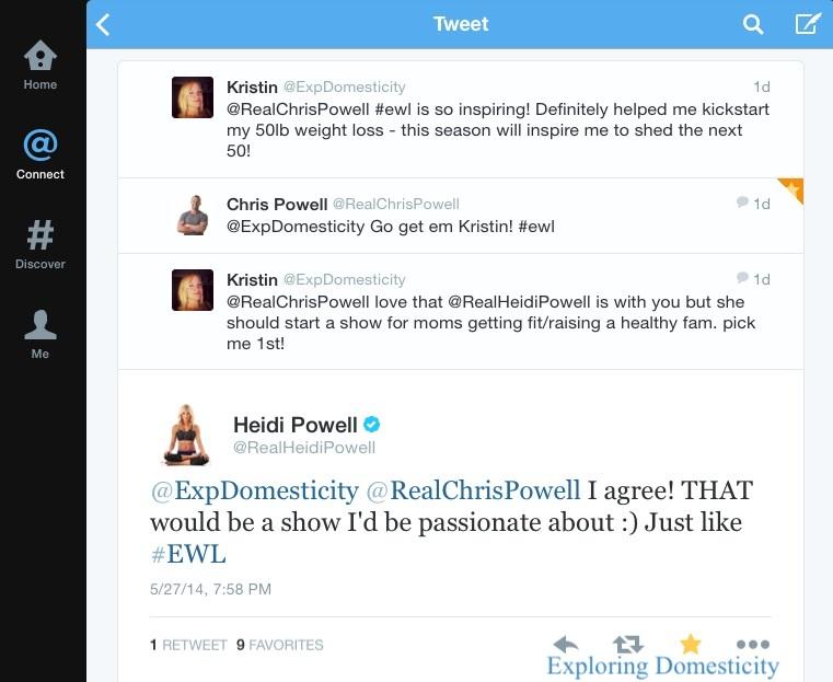 Heidi Powell Twitter convo