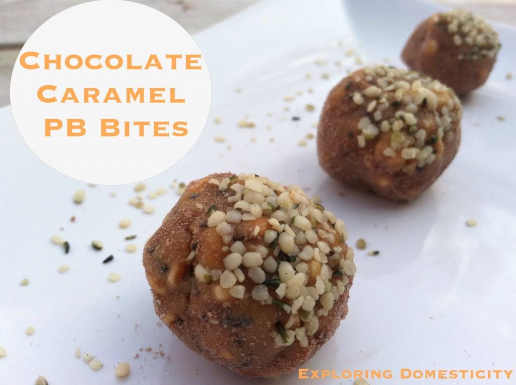 Chocolate caramel PB bites