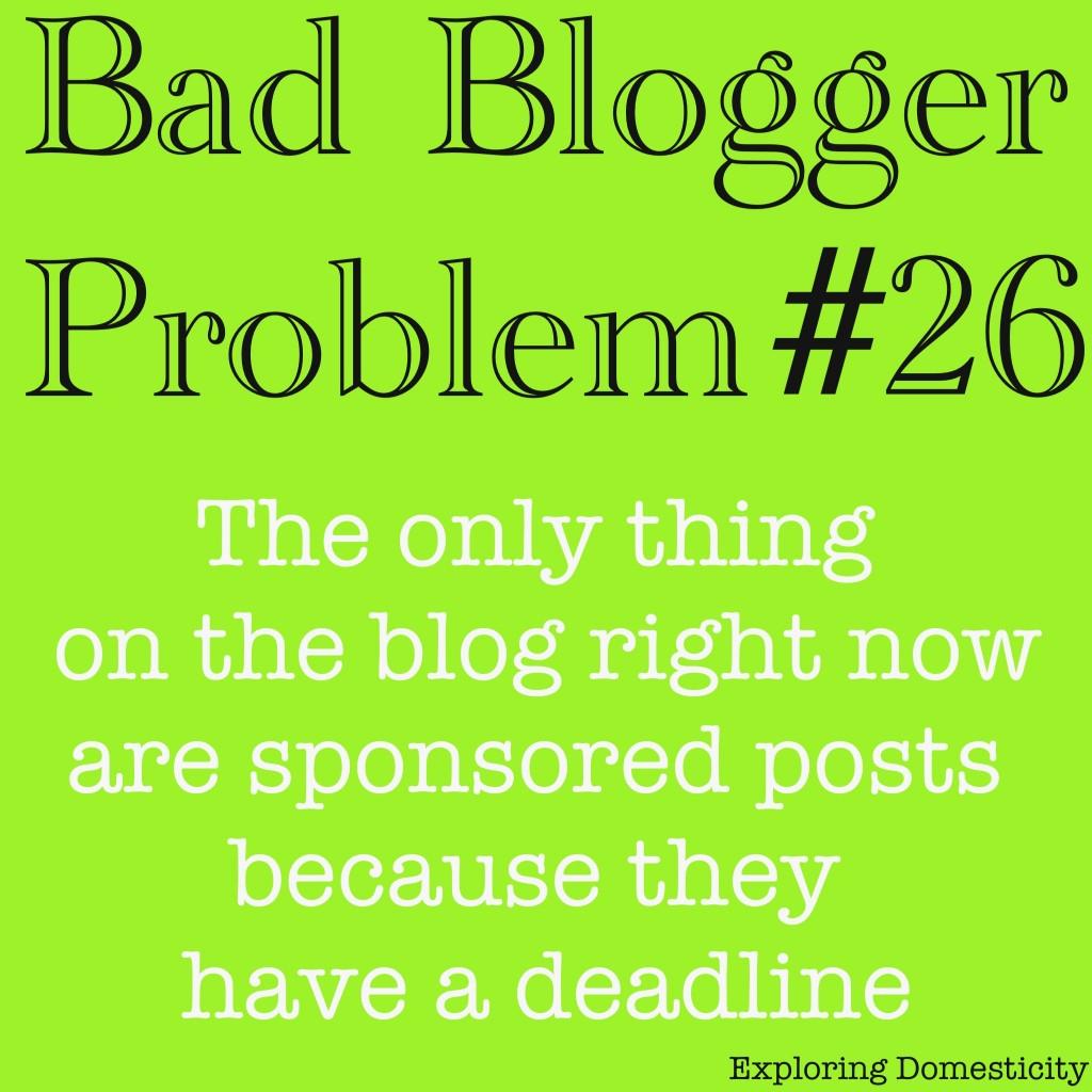 Bad blogger problem: sponsored posts