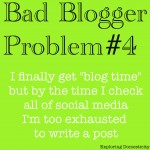 Bad blogger: social media makes me too tired to blog