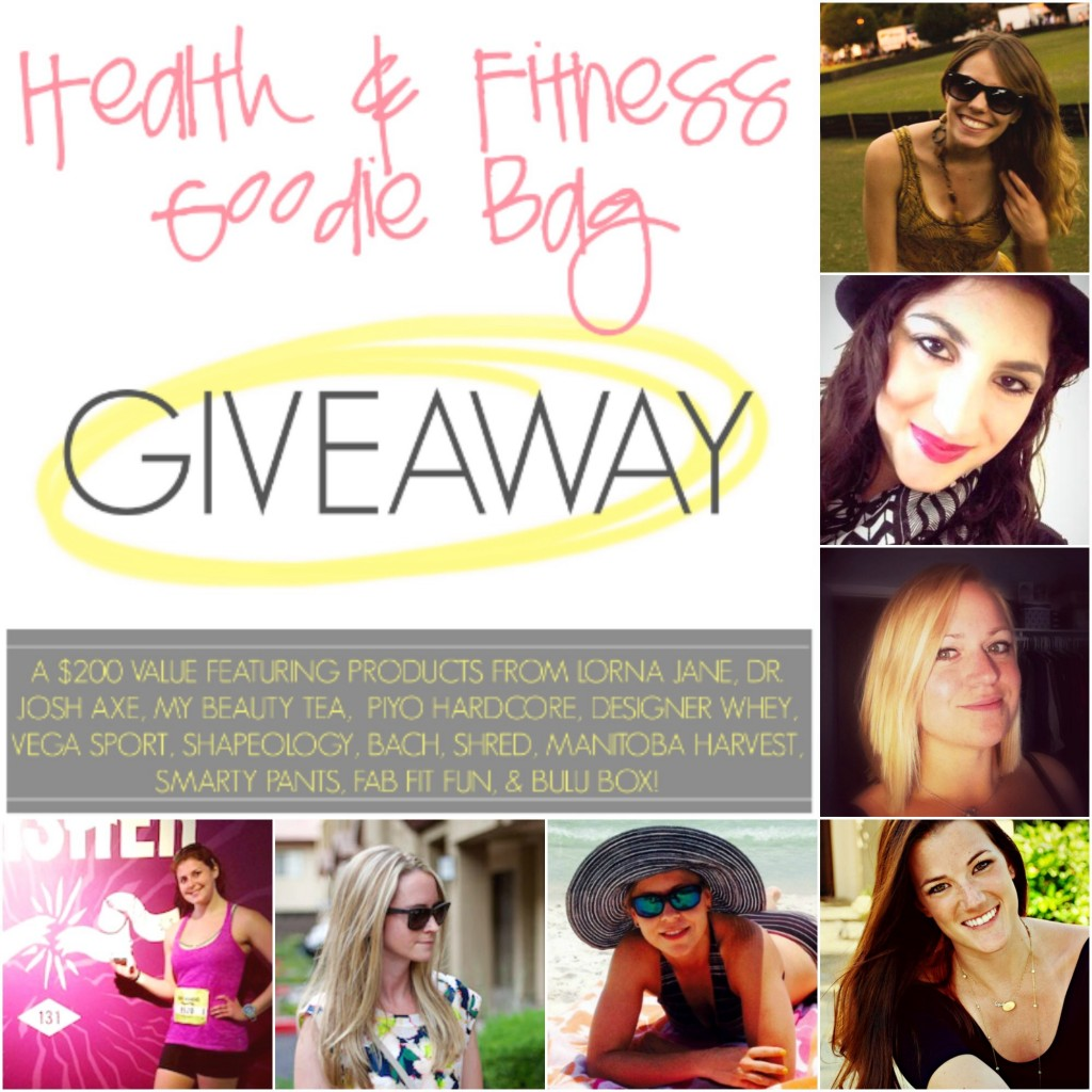 Health and fitness goodie bag giveaway bloggers