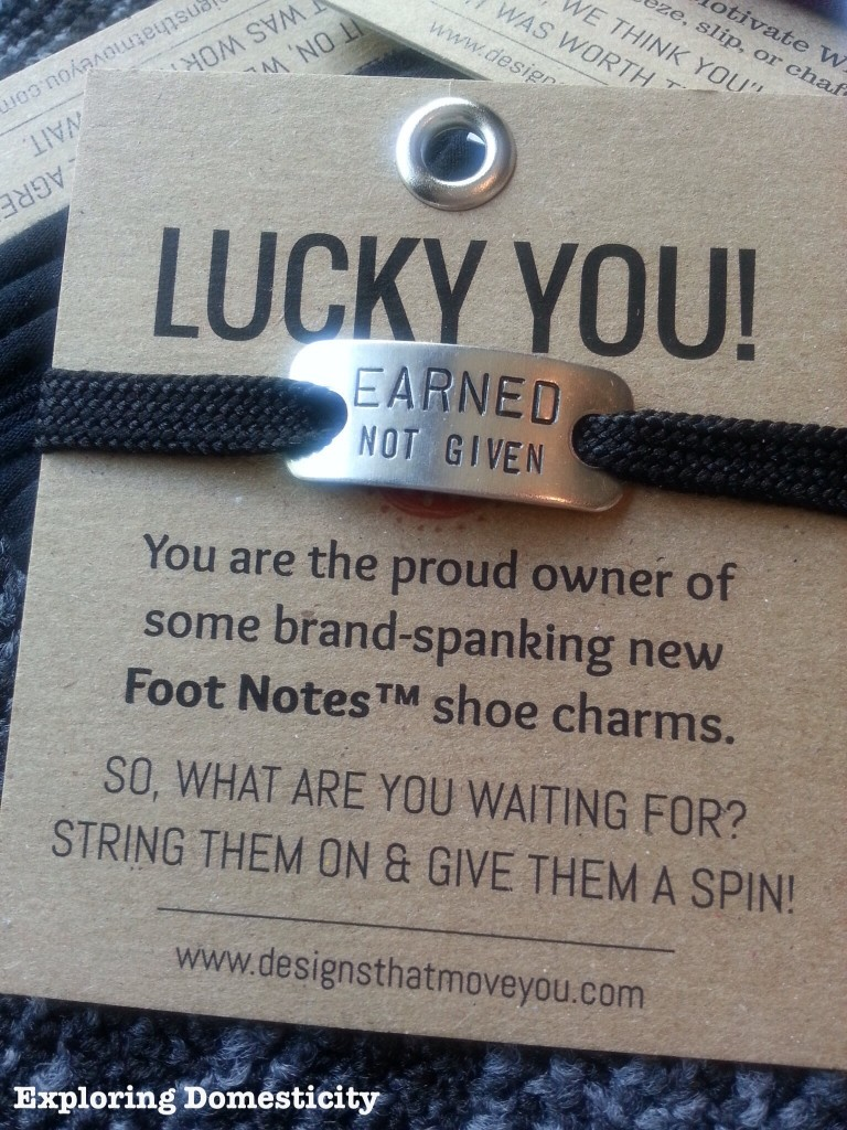 Fit Faves: Momentum Jewelry Footnotes. Motivational quotes for your laces