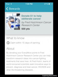 Earn rewards for being active and donate to charities with EveryMove