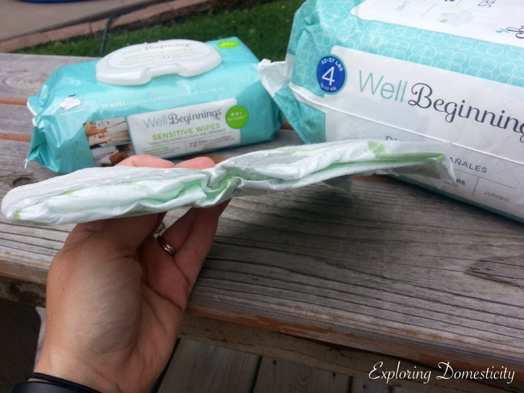 Walgreens Well Beginning Diapers, thin but absorbent