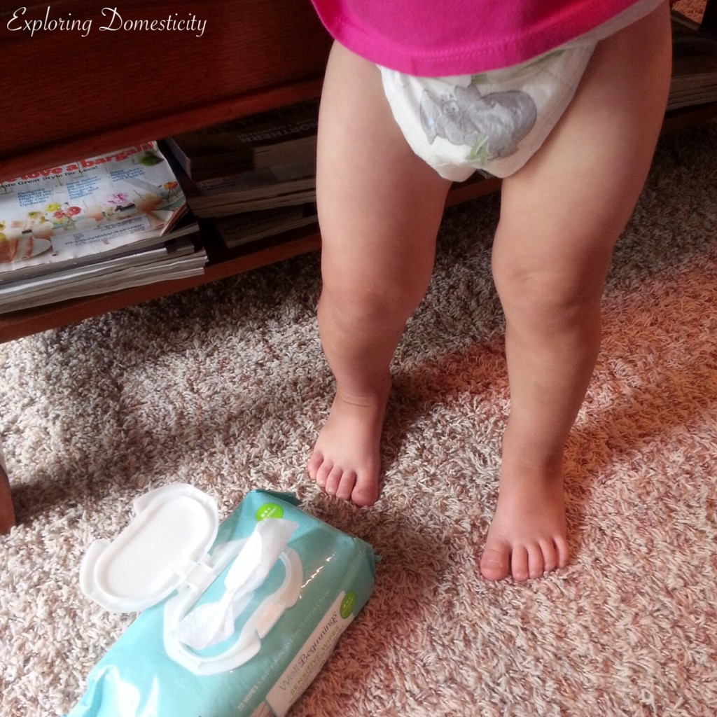 Name brand vs store brand diapers: Walgreens well beginnings diapers and wipes
