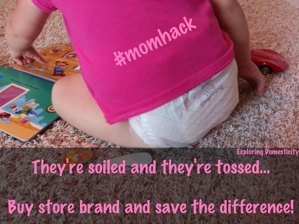 #momhack saving on diapers