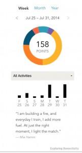 Activity feedback with EveryMove