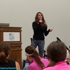 Jillian Michaels: Key Note Speaker at IDEA World BlogFest with SweatPink