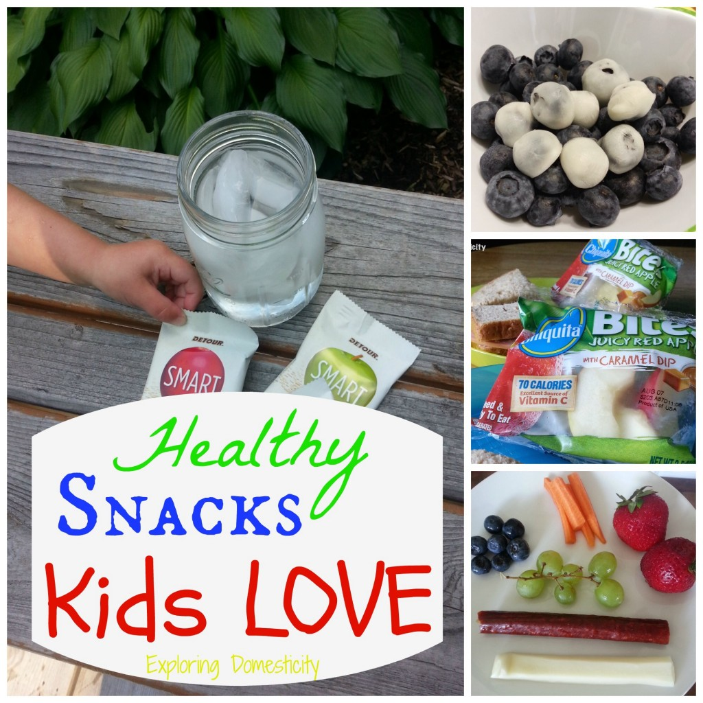 Healthy snacks Kids LOVE - great list of perfect snacks for kiddos (and they're healthy too... Shhh...)