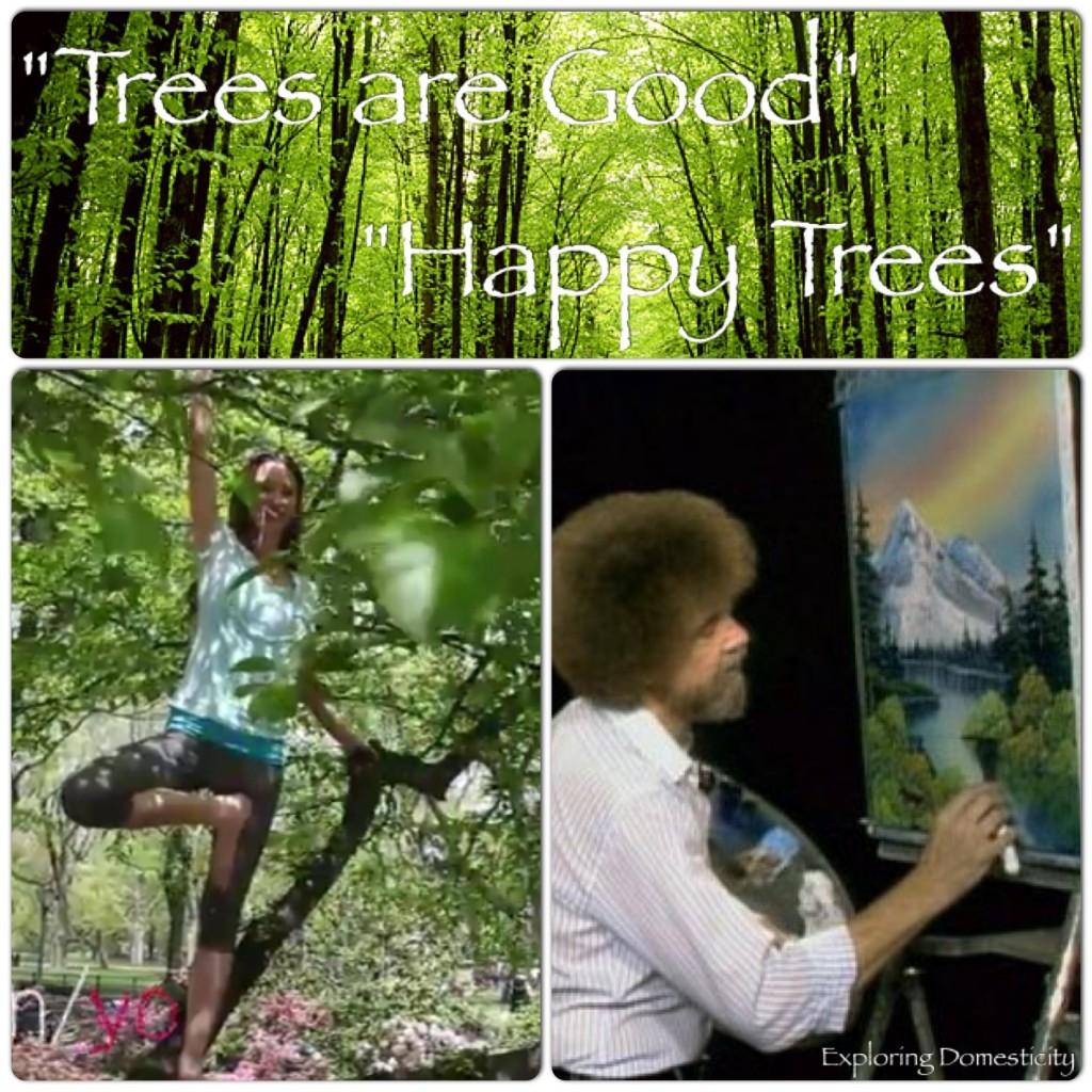 Happy trees with Tara Stiles and Bob Ross