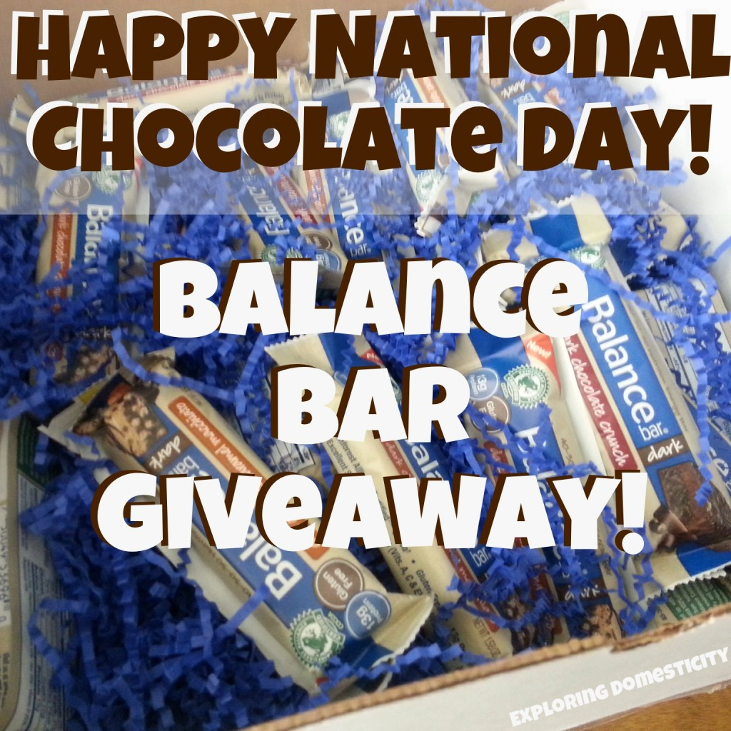 International Chocolate Day Balance Bar Giveaway!