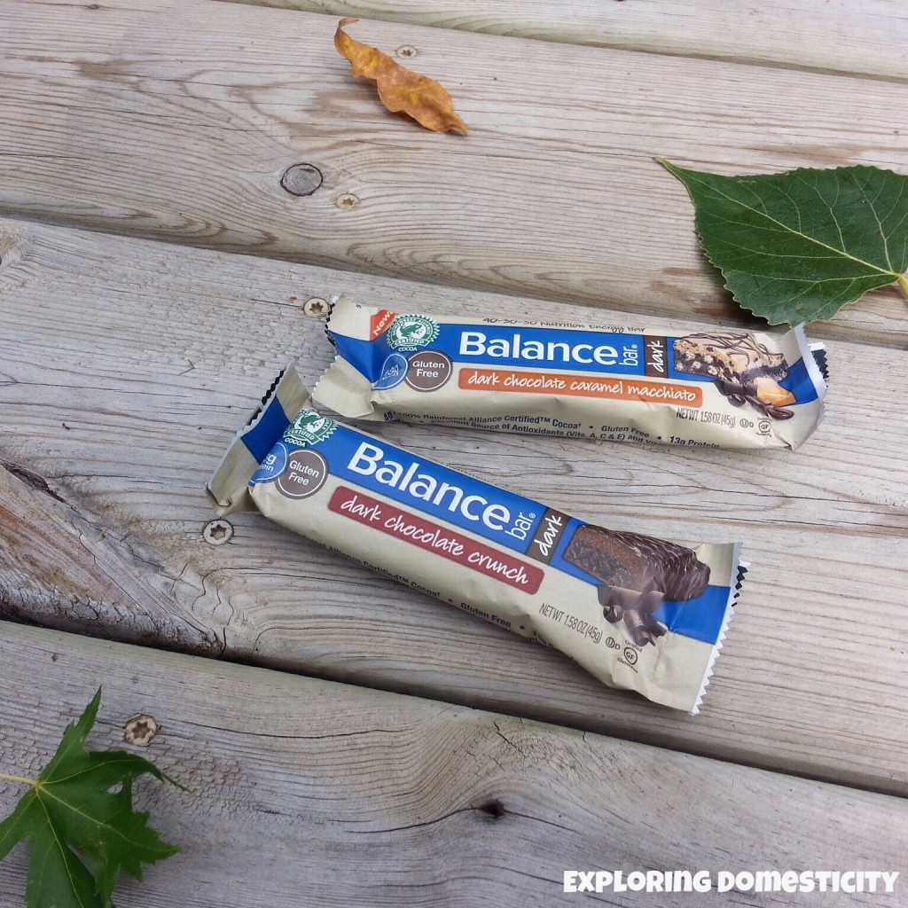 Healthy option for chocolate cravings - balance bar