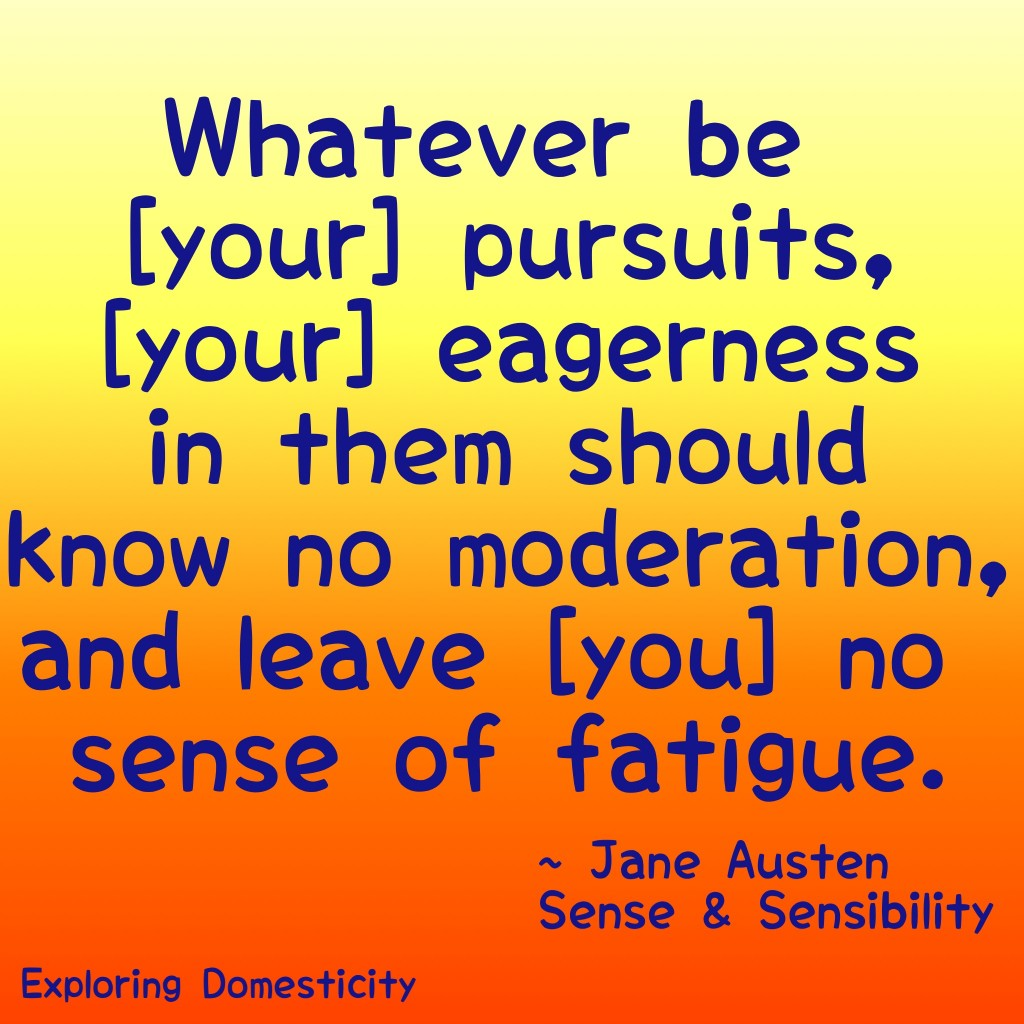 Jane Austen Words of Wisdom: Pursuits {a page full of Jane Austen Quotes}