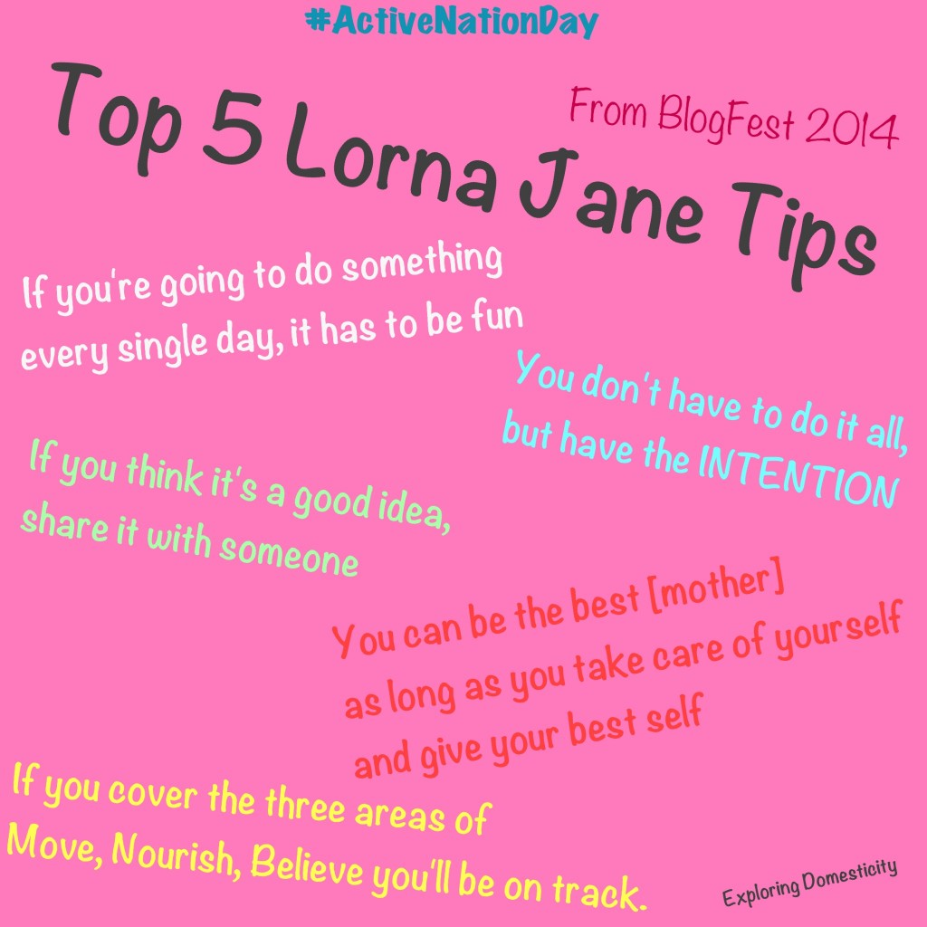 Inspiration from Lorna Jane - #activenationday