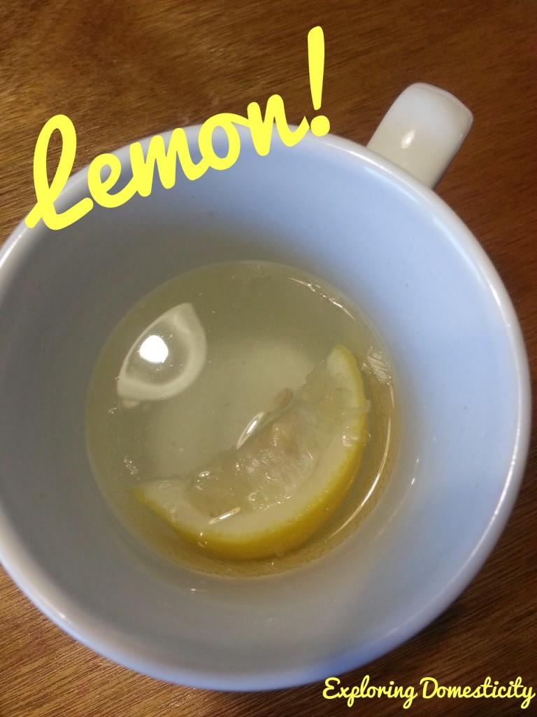 Warm lemon water in the morning