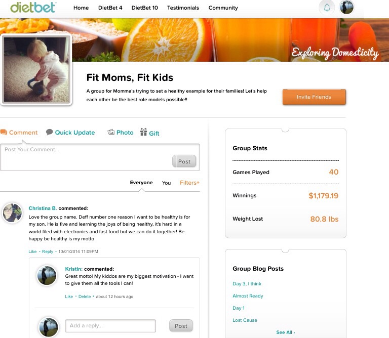 Fit Moms, Fit Kids DietBet Group