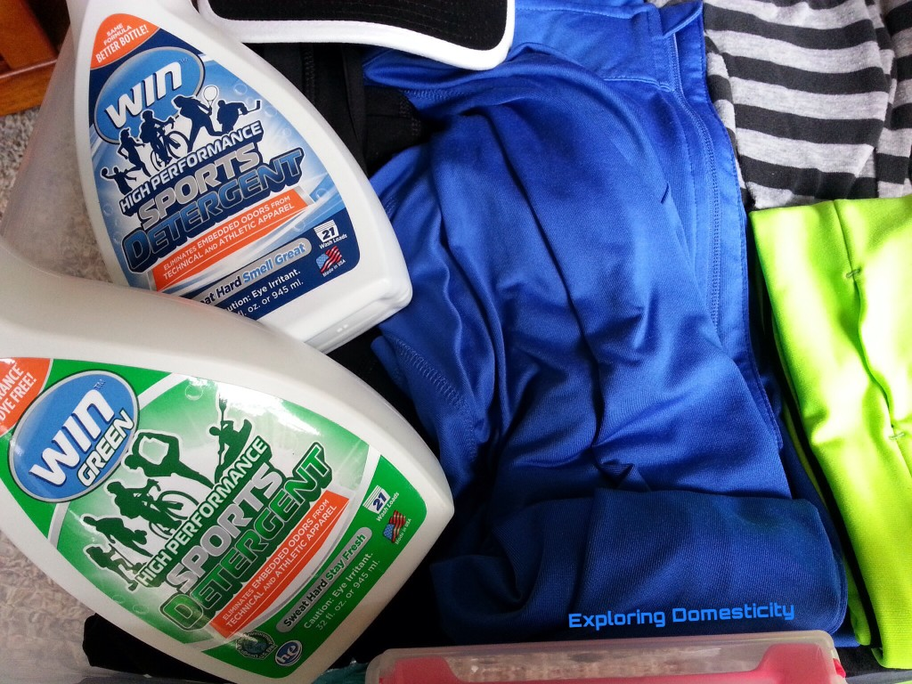 WIN detergent for athletic clothes