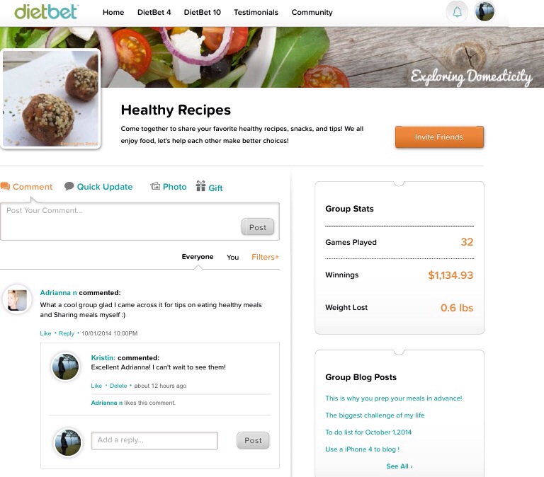 Healthy Recipes DietBet Group