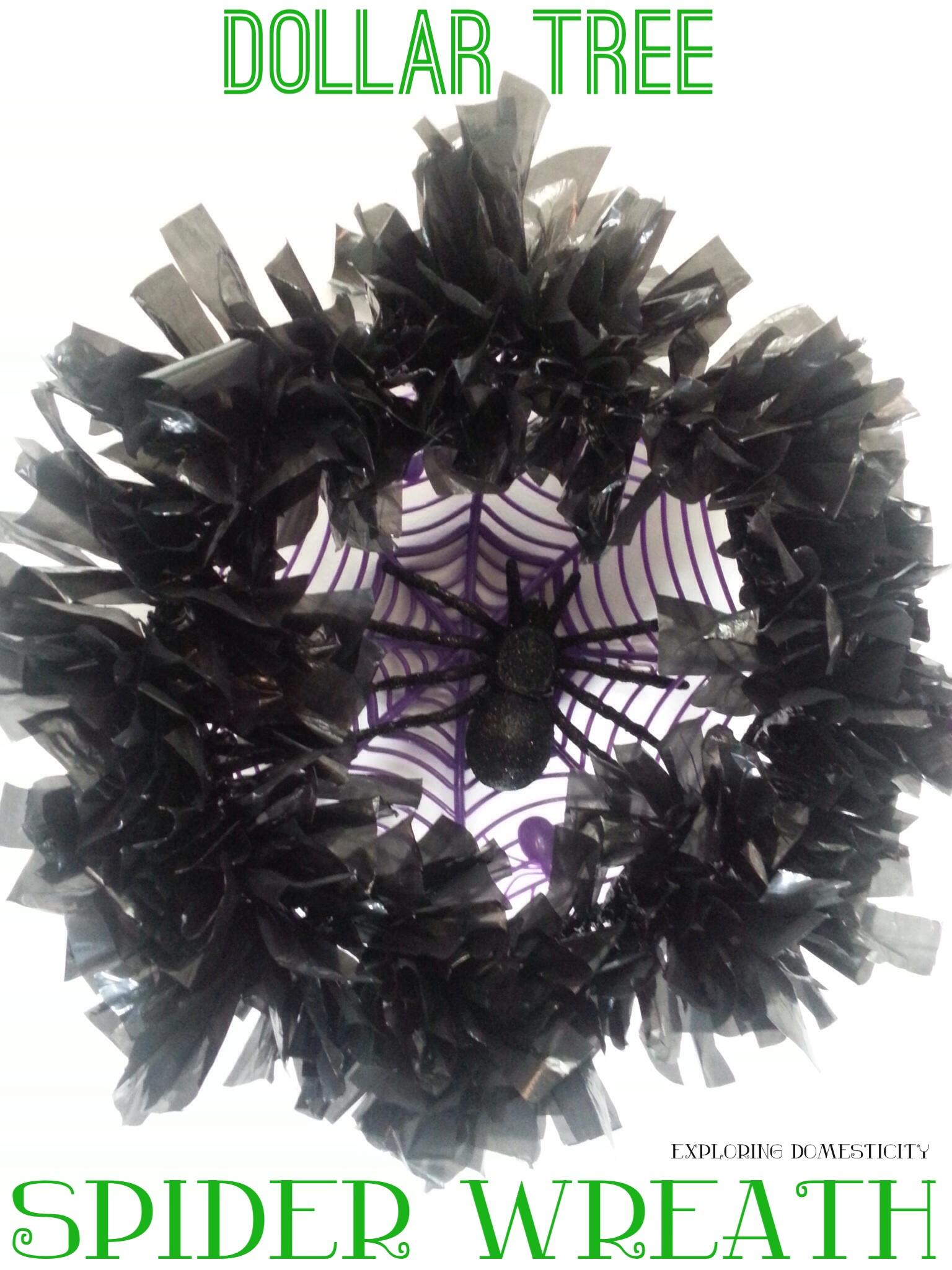 Dollar tree spider wreath