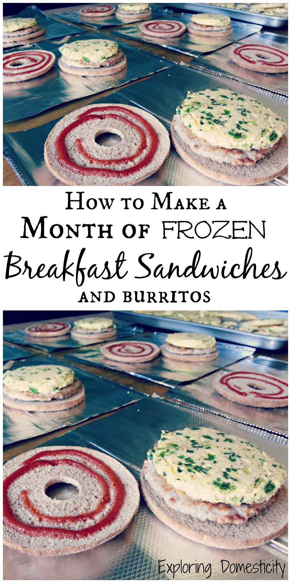 Make A Cardboard 3d Model Of Your Area Using Local: How To Make A Month Of Frozen Breakfast Sandwiches {and