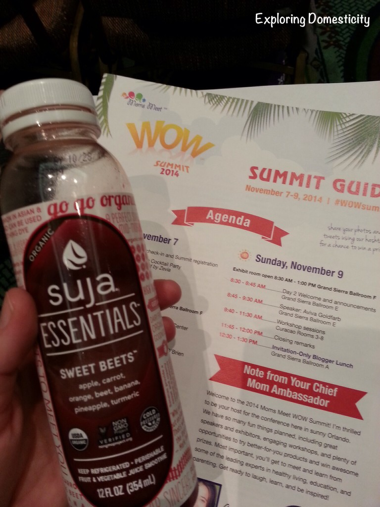 WOW Summit 2014 schedule and Suja