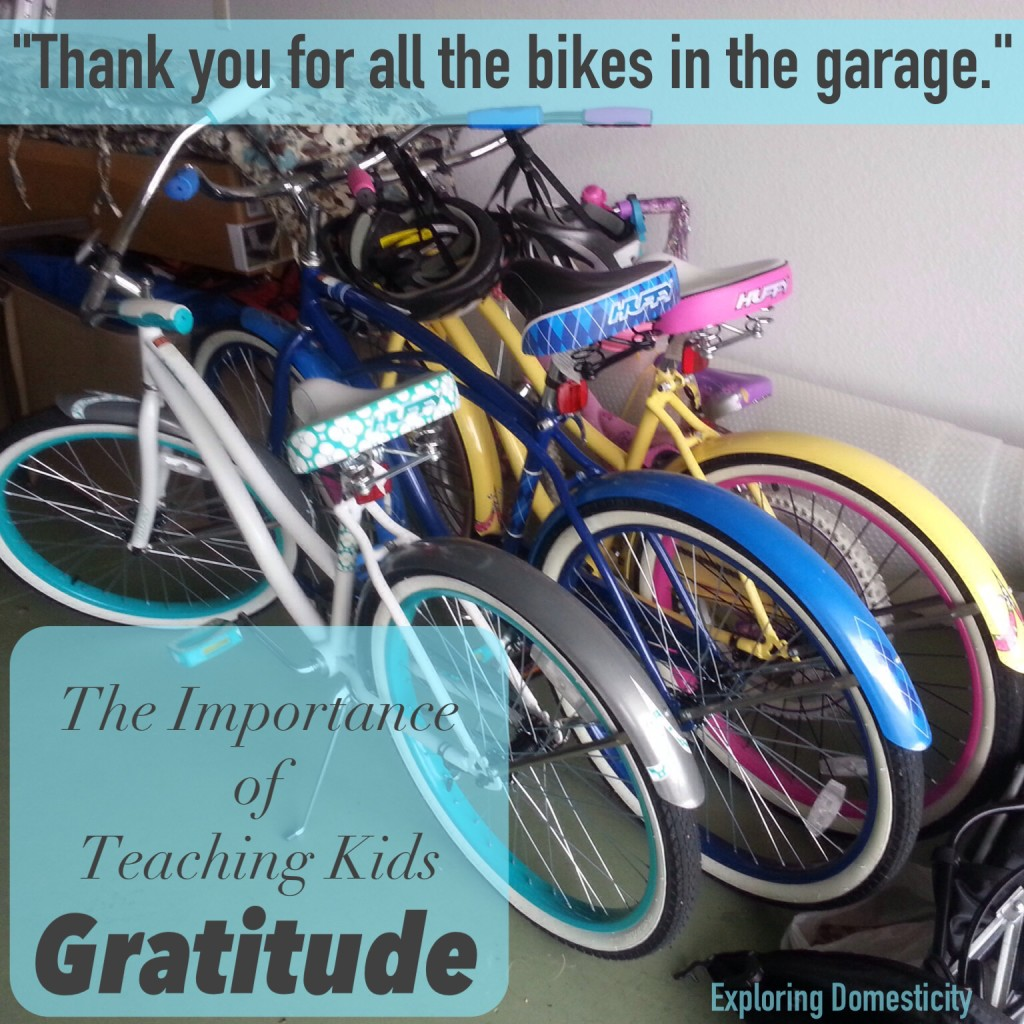The importance of teaching kids gratitude