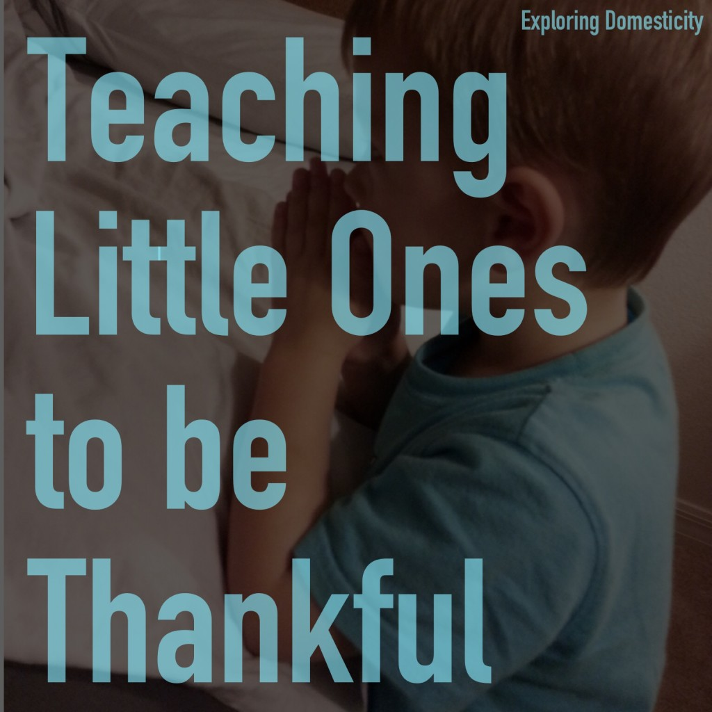 Teaching little ones to be thankful