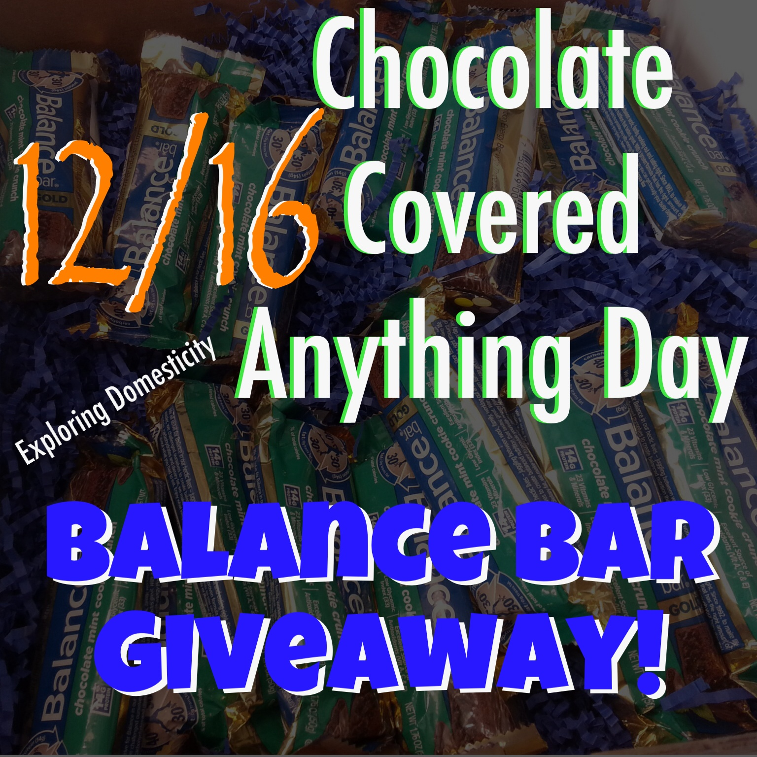 Chocolate Covered Everything Balance Bar Giveaway