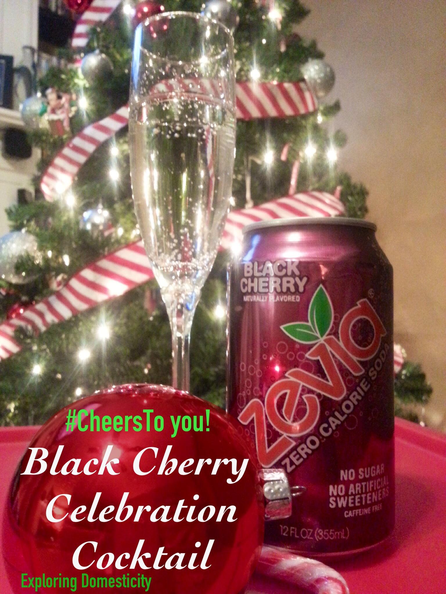 Black Cherry Celebration Cocktail with Zevia