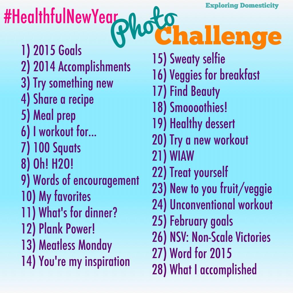 #HealthfulNewYear January Photo Challenge 2015