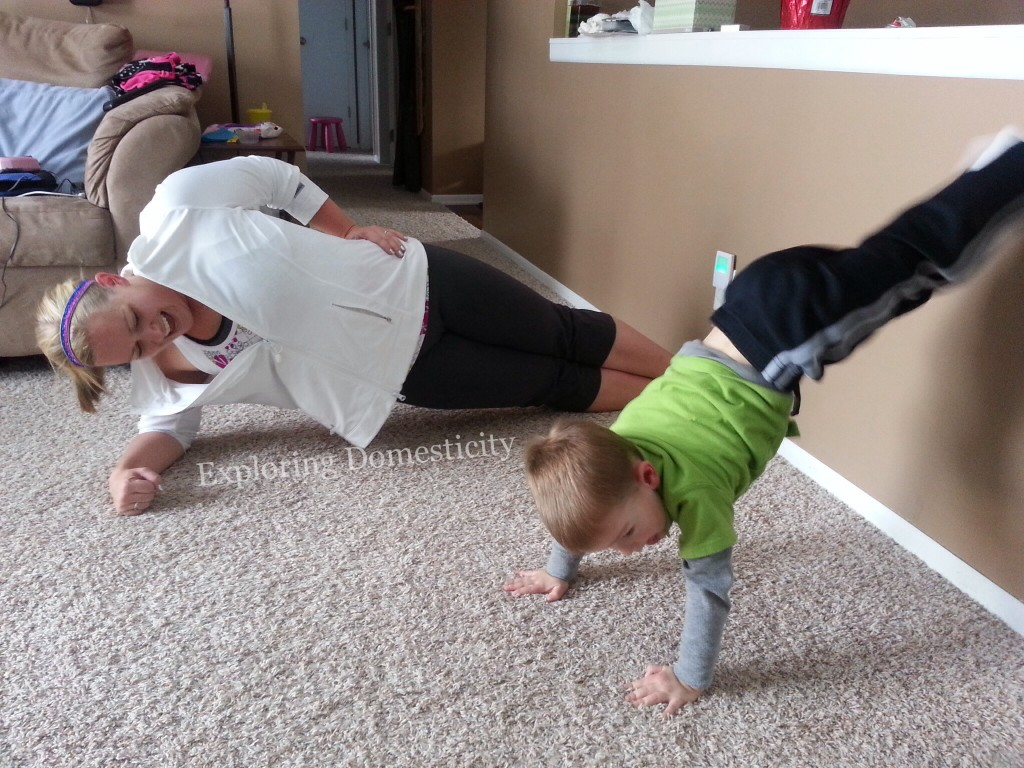 Setting a healthy example: working out with kids