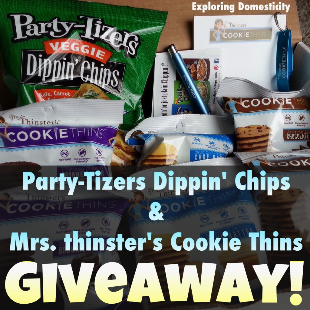 Party-Tizers Dippin' Chips and Mrs.Thinster's Cookie Thins Giveaway!