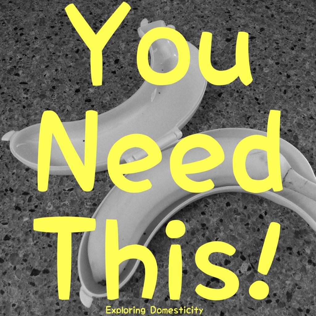 The Banana Keeper: preserves half eaten bananas in the fridge