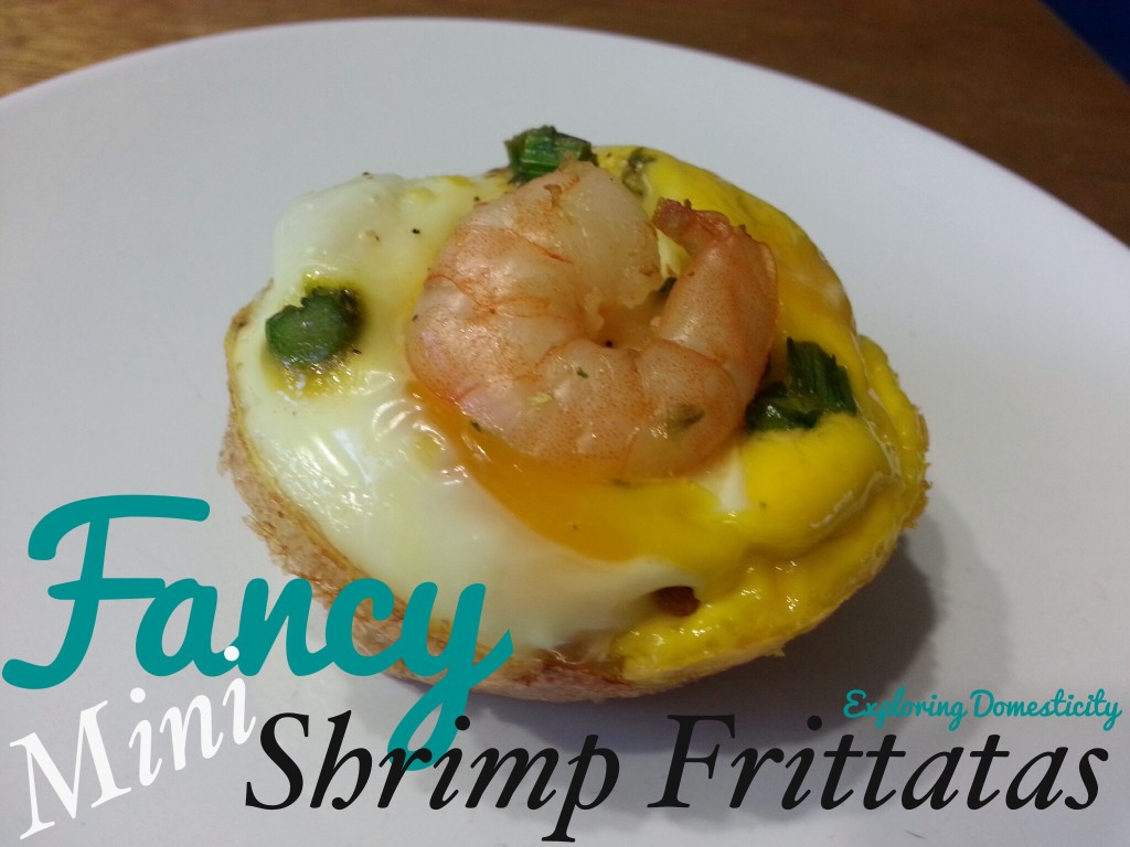 Fancy Mini Shrimp Frittatas