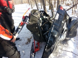Snowmobile crash