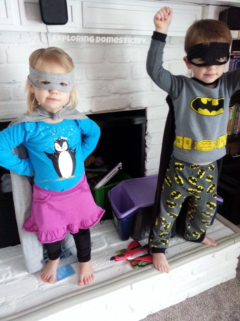 Two-Minute T-Shirt Superhero Cape and mask