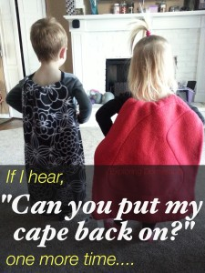Two-minute T-shirt Superhero Cape