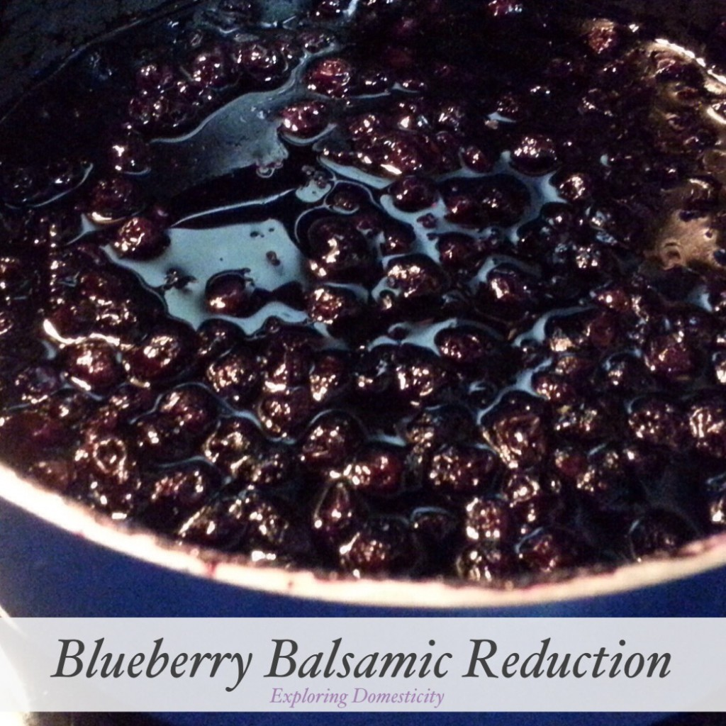 Blueberry Balsamic Reduction {3 Dishes with Wild Blueberries}