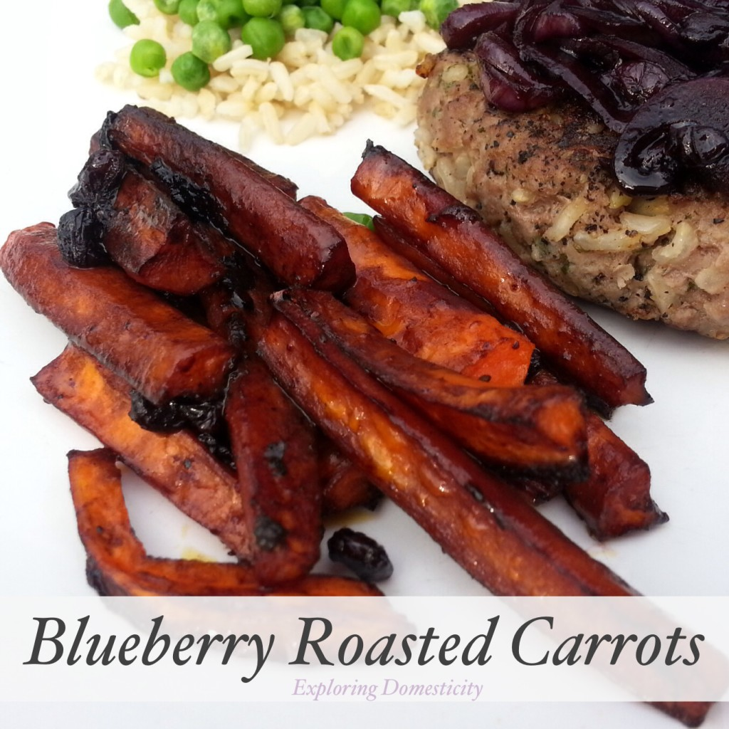 Blueberry Roasted Carrots {3 Dishes with Wild Blueberries}
