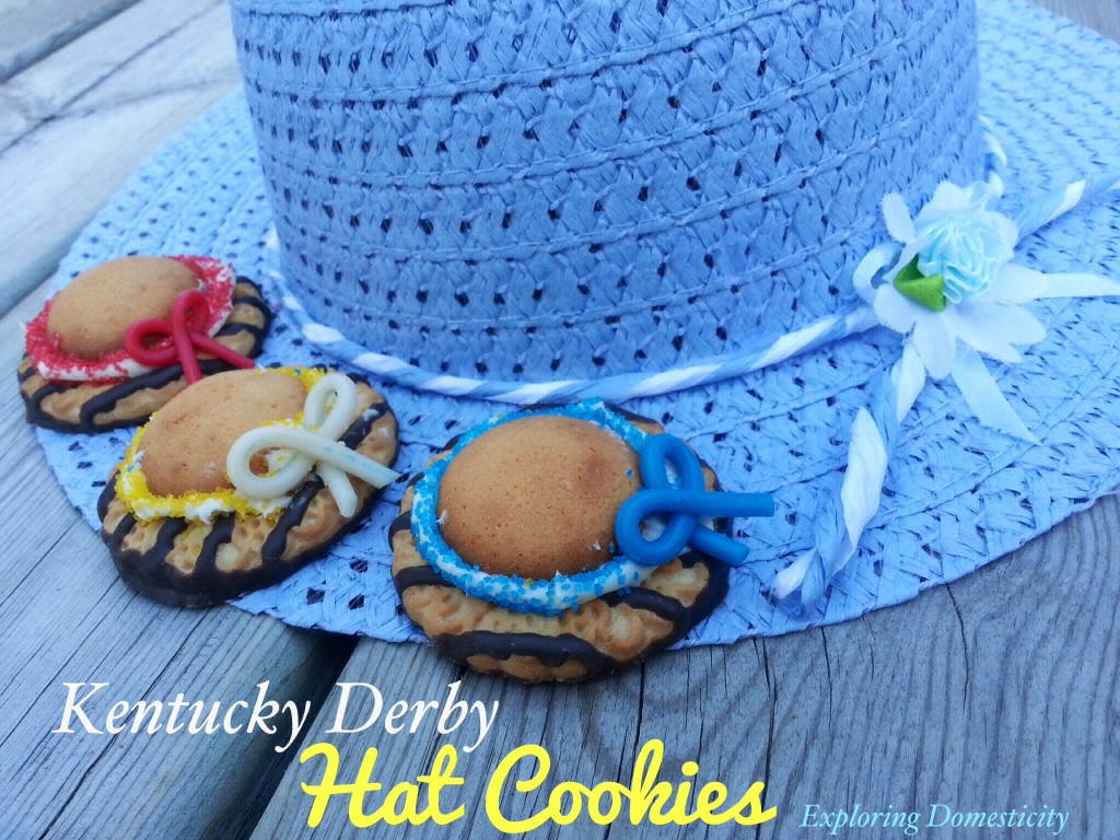 Quick and Easy Kentucky Derby Hat cookies