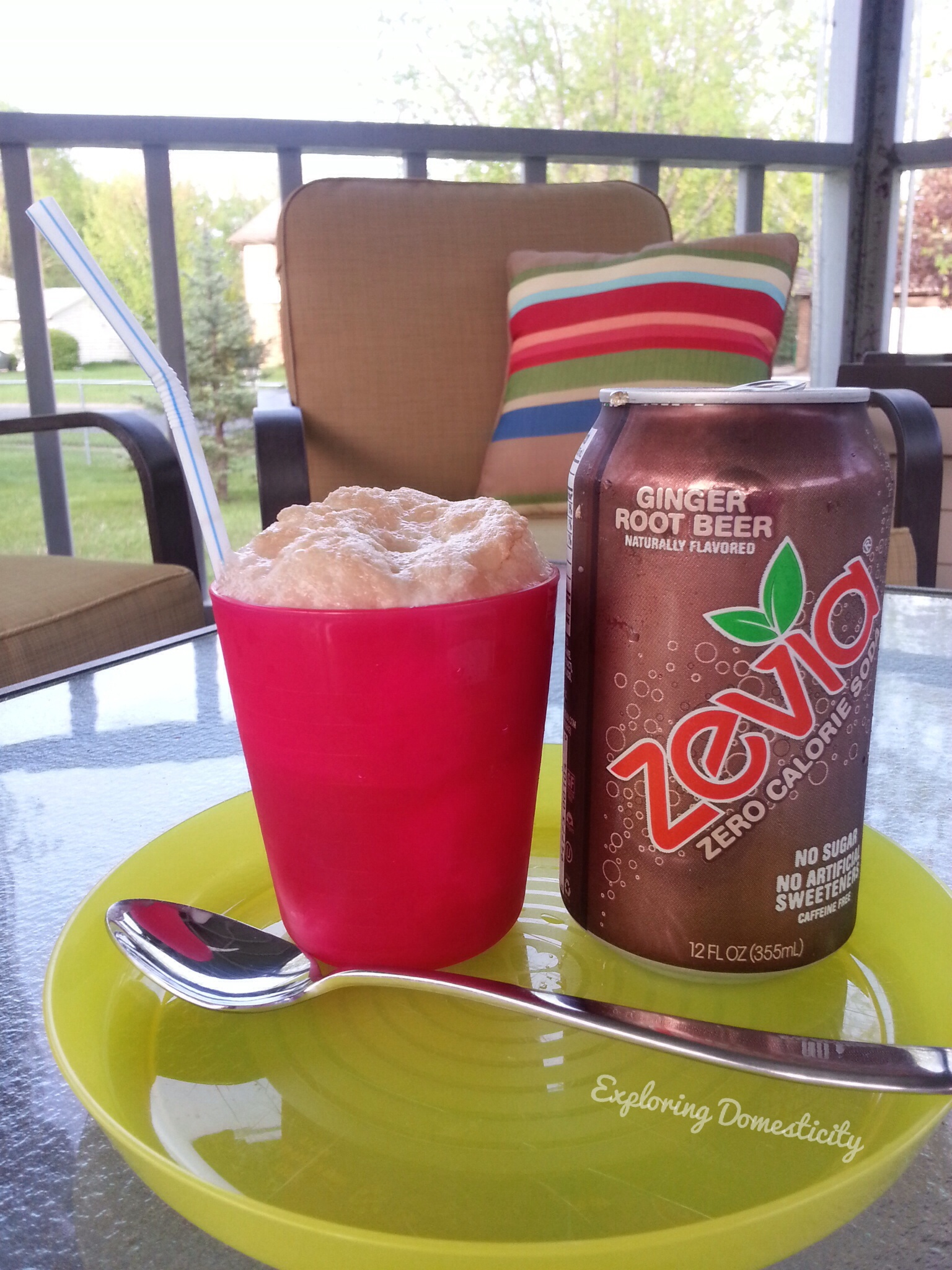 Zevia Ginger Root Beer Float #TheNewSweet