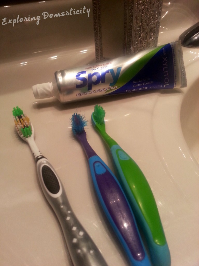 Spry toothpaste