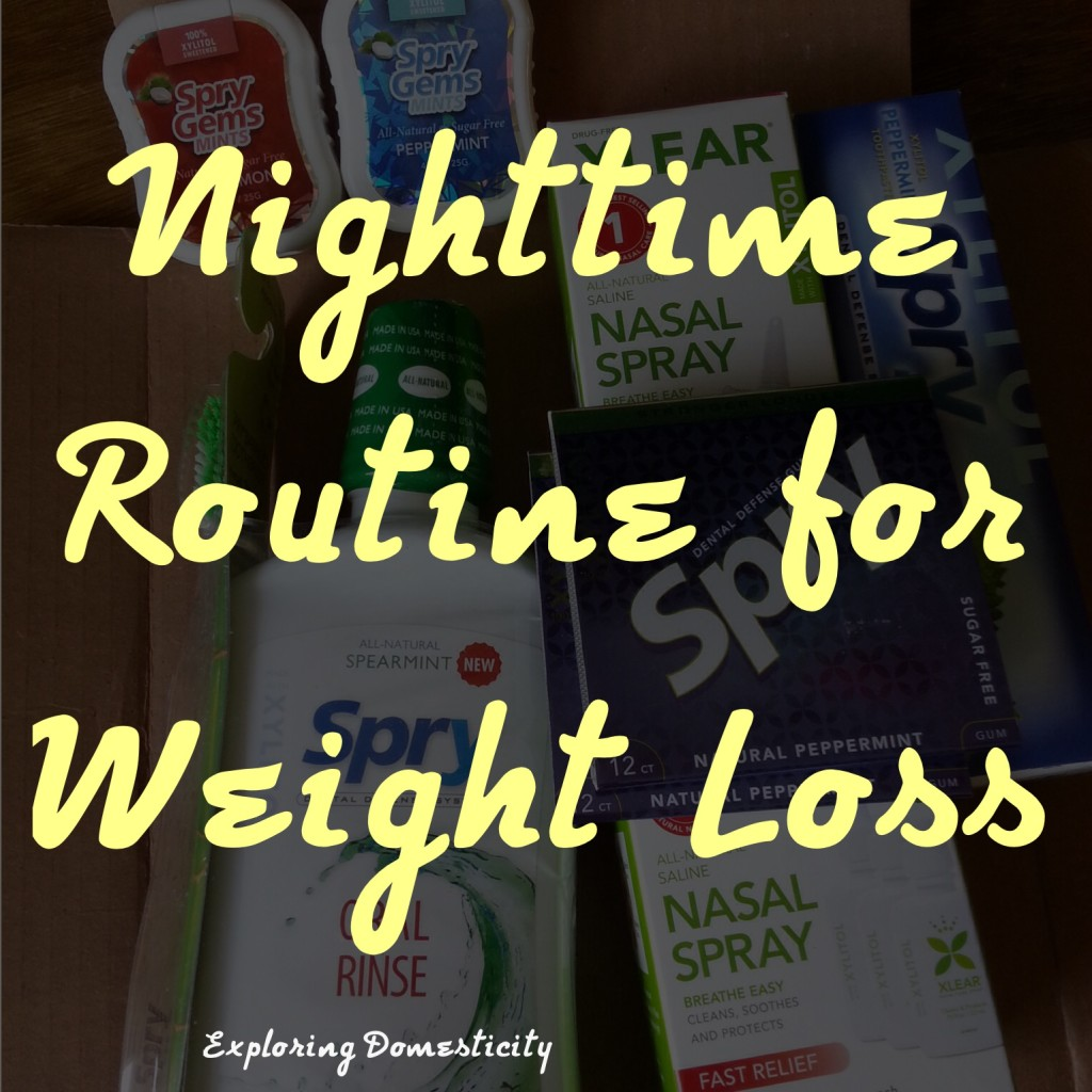 Nighttime routine for weight loss