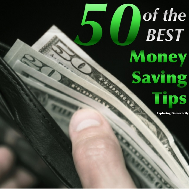50 of the BEST Money Saving Tips