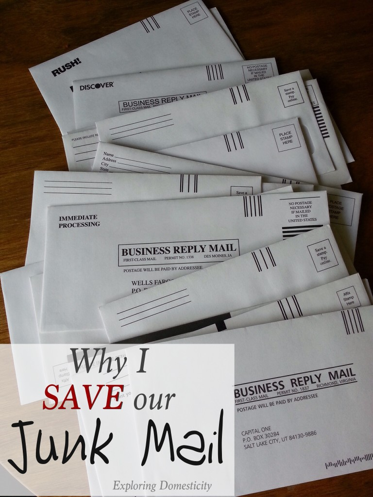 Why I Save Our Junk Mail