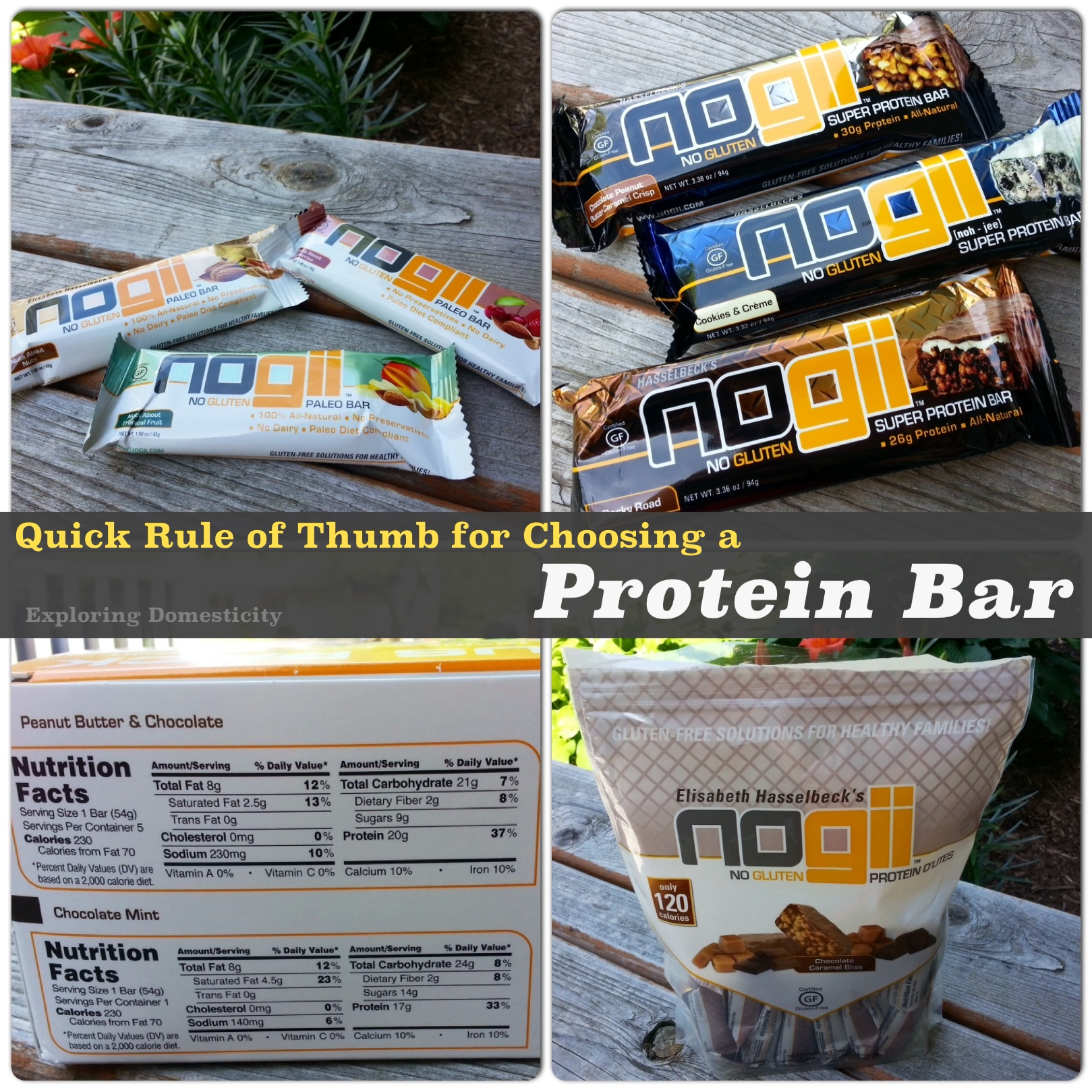 Quick rule of thumb for choosing a protein bar
