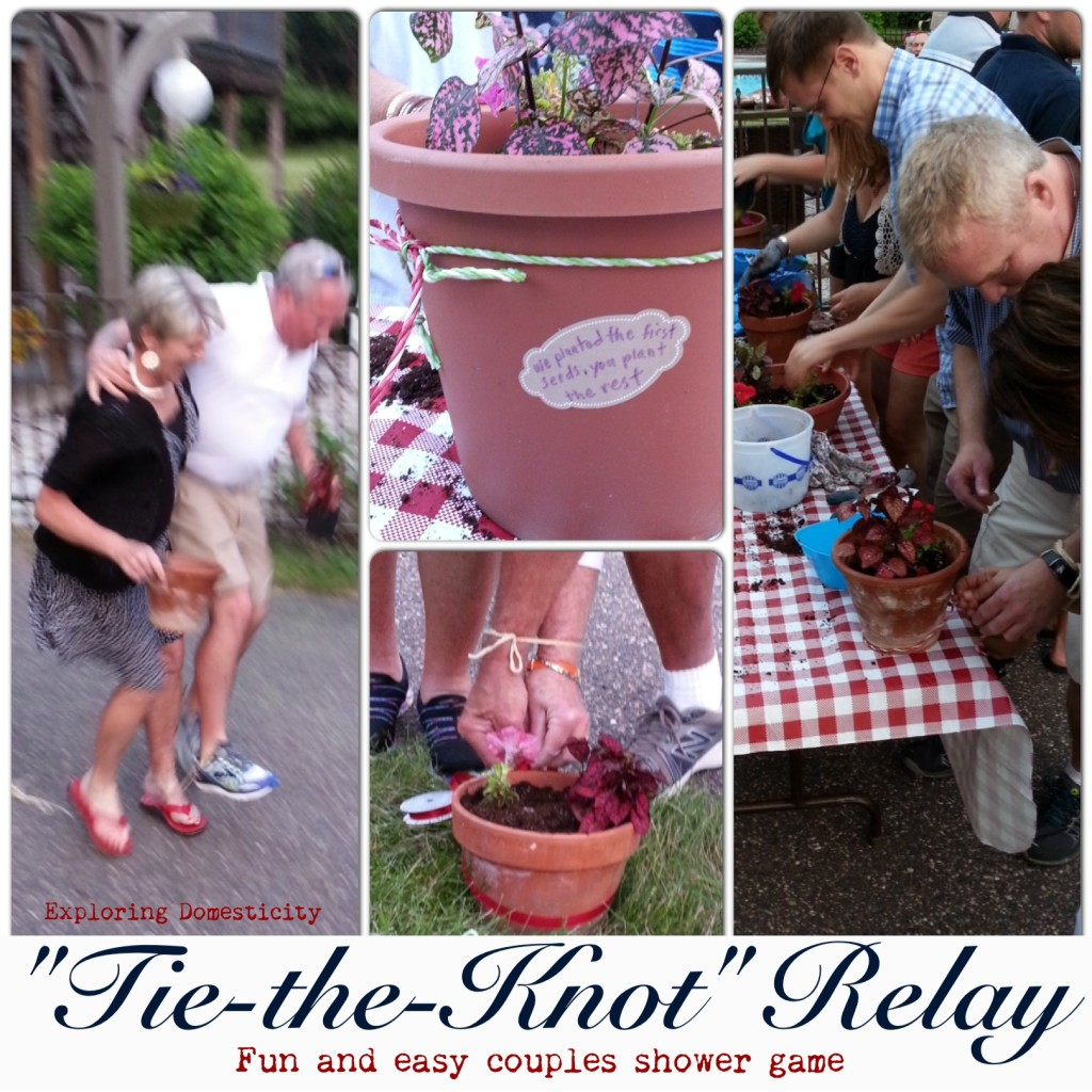 """Tie-the-Knot"" Relay: fun and easy couples shower game"