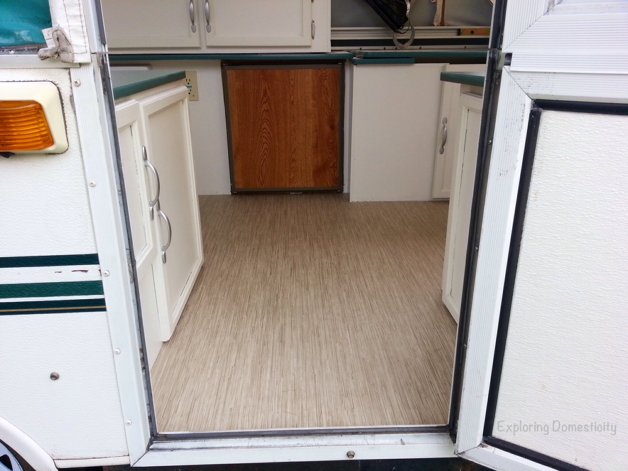 Pop Up Camper Remodel Painting And Flooring Exploring Domesticity