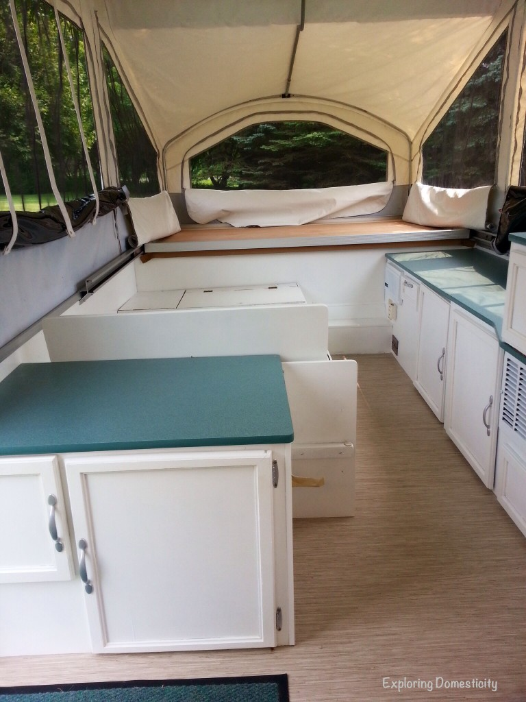 Pop Up Camper Remodel: painting and Flooring